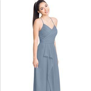 Azazie Dawn dusty blue bridesmaid dress size 4
